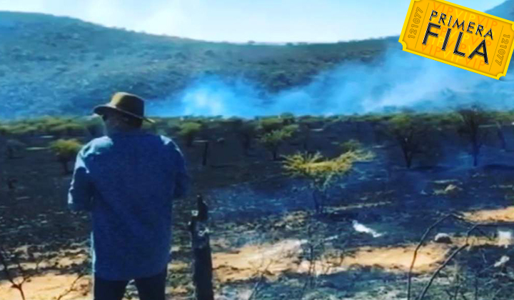 Incendio consume propiedad del padre de Pepe Aguilar