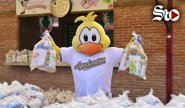 Unión Laguna se solidariza donando despensas y cubrebocas