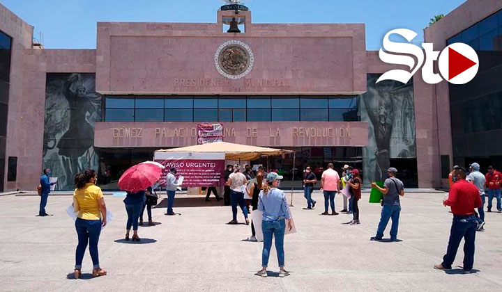 Protesta sindicato en GP; denuncian incumplimiento de contrato