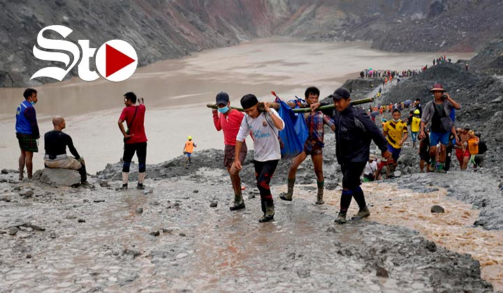 Van más de 160 muertes tras accidente de mina en Birmania