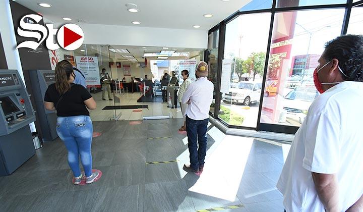 Arranca operativo de revisión sanitaria en bancos de La Laguna
