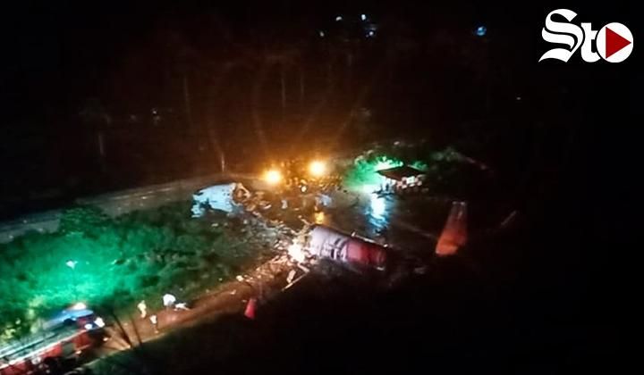 Avión sufre accidente y se parte en en aeropuerto de la India