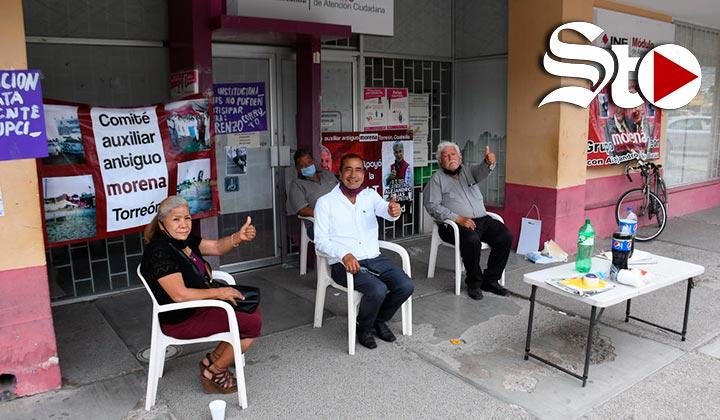 Morenistas toman INE en Torreón