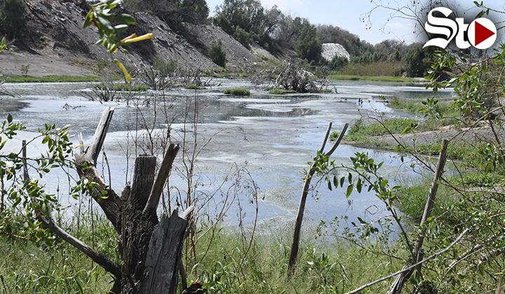 Contaminación en lecho del río Nazas persiste