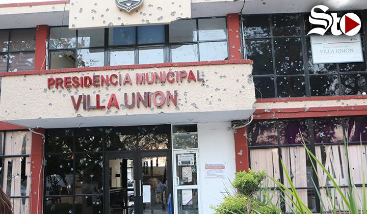 Difunden video del ataque a presidencia de Villa Unión