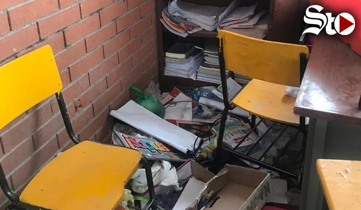 Reportan destrucción parcial de escuela en Torreón