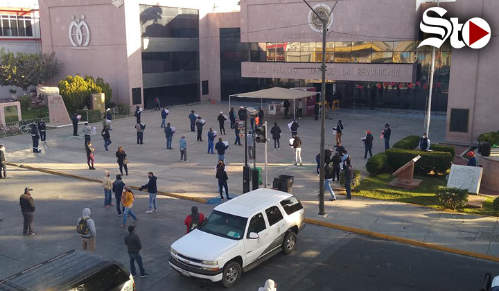 Sindicalizados de G.P. protestan nuevamente en la Presidencia