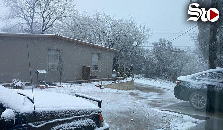 Registran segunda intensa nevada en la región Norte de Coahuila