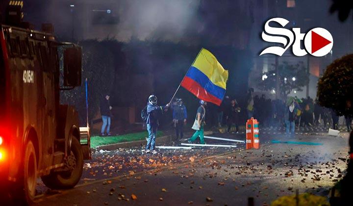 Reportan 19 muertos tras represión de protestas en Colombia