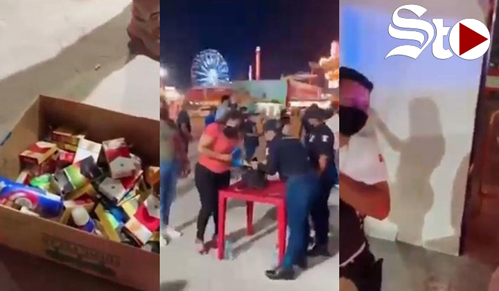 Video muestra artículos que quitan en la Feria de Torreón