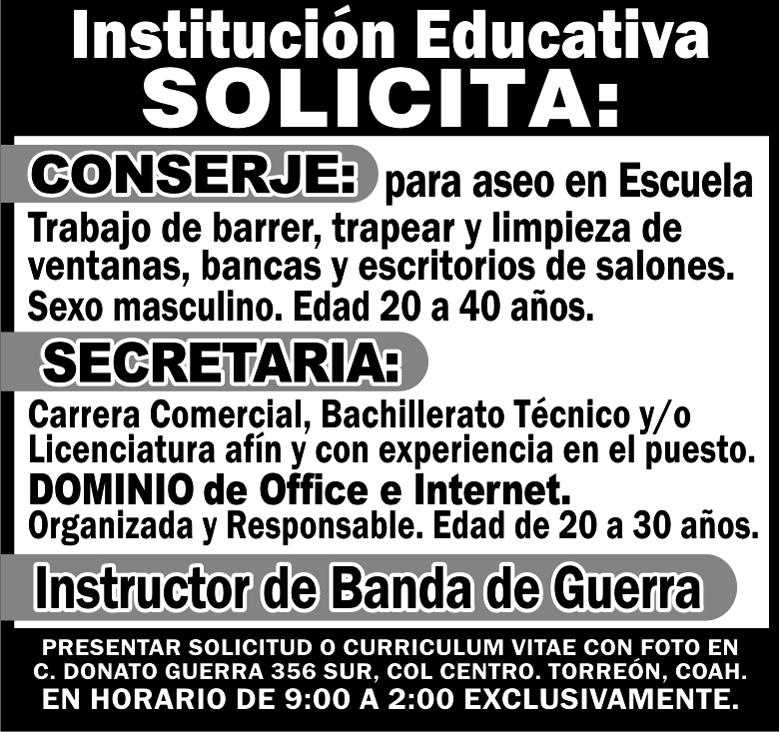 INSTITUCION EDUCATIV torreon gomez lerdo laguna