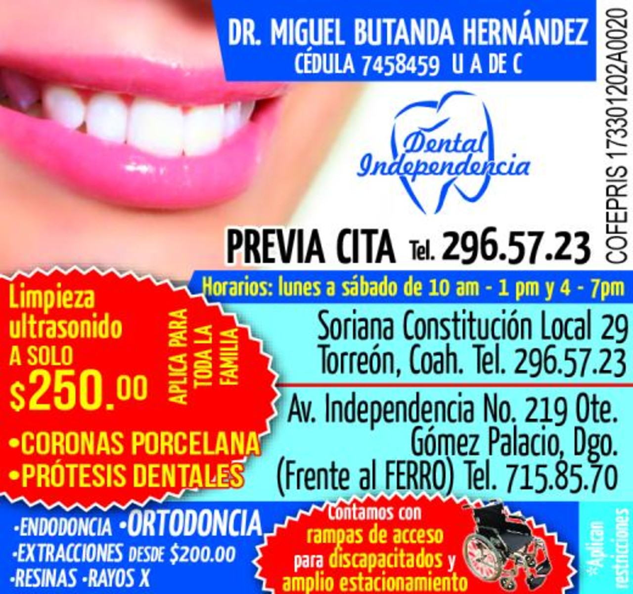 DENTAL INDEPENDENCIA torreon gomez lerdo laguna