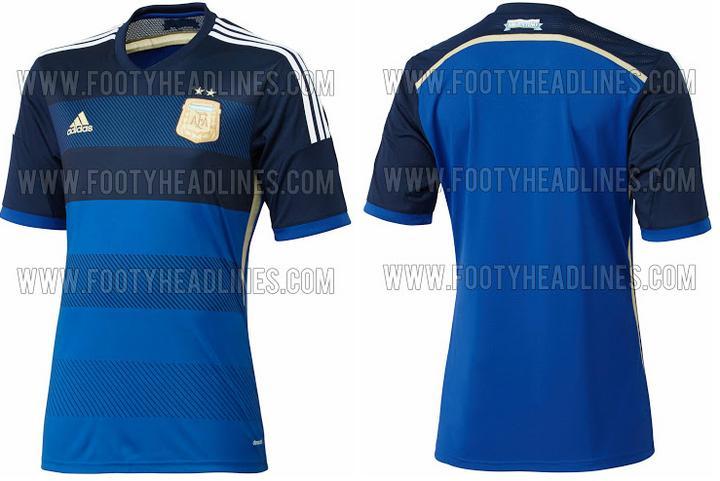 ffbfa6293a01b Filtran uniforme de Argentina para Brasil 2014