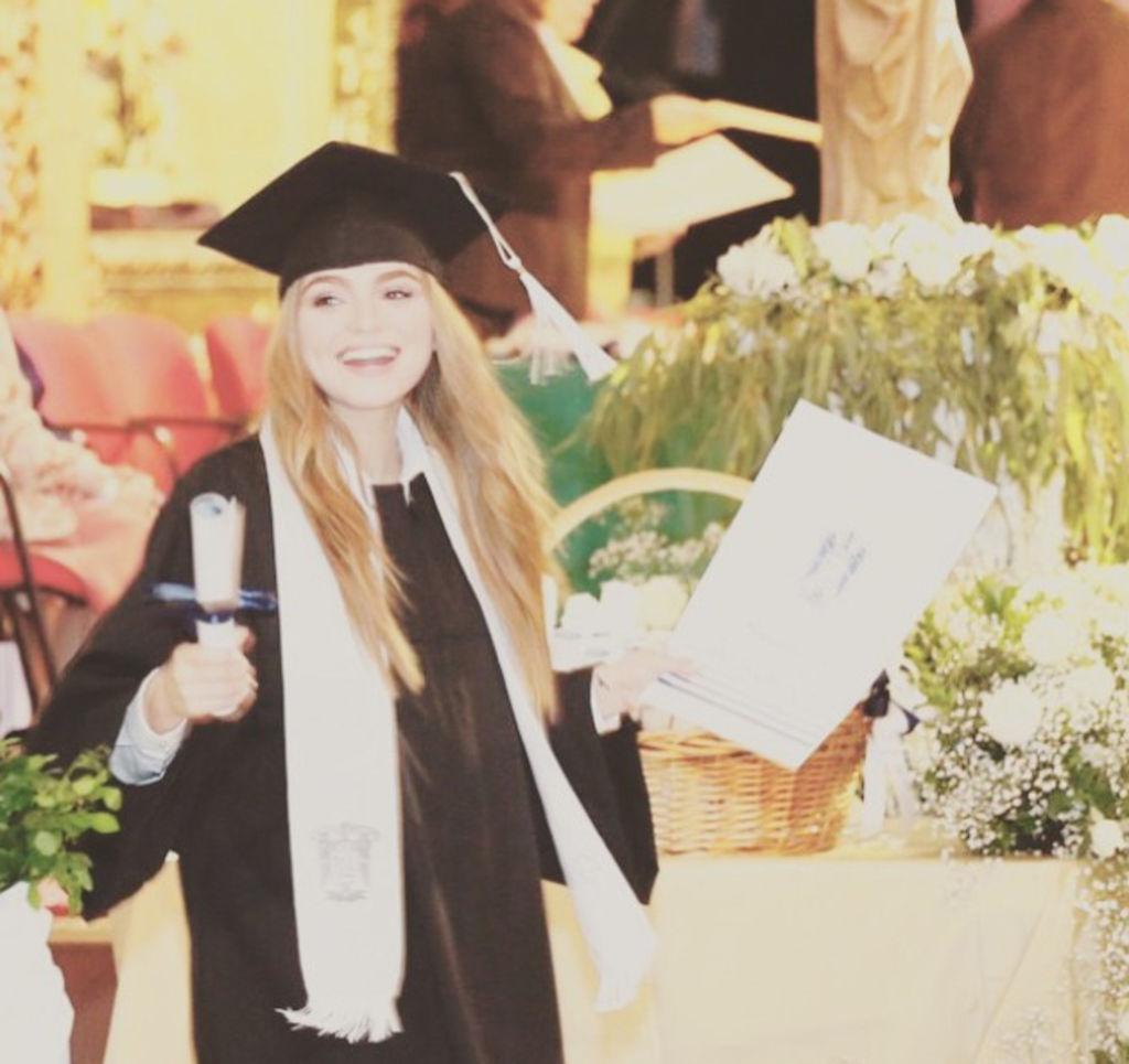 9e163fb97 Sofía Castro compartió algunas fotos de su graduación en las redes  sociales. (Instagram)