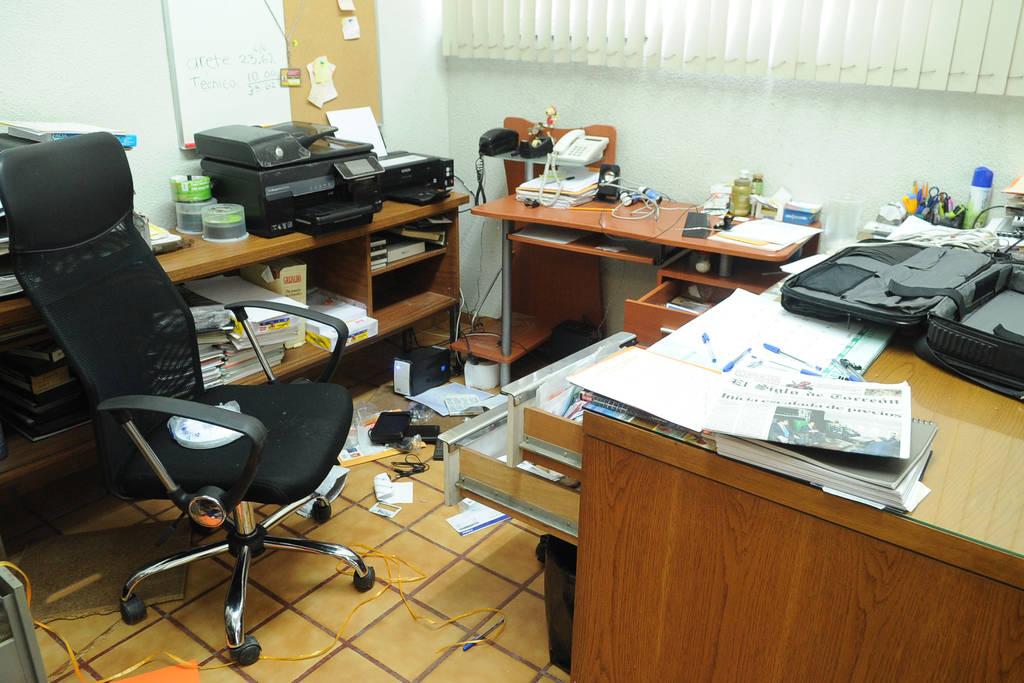 Roban oficina en g mez durante la madrugada for Oficina ganadera virtual