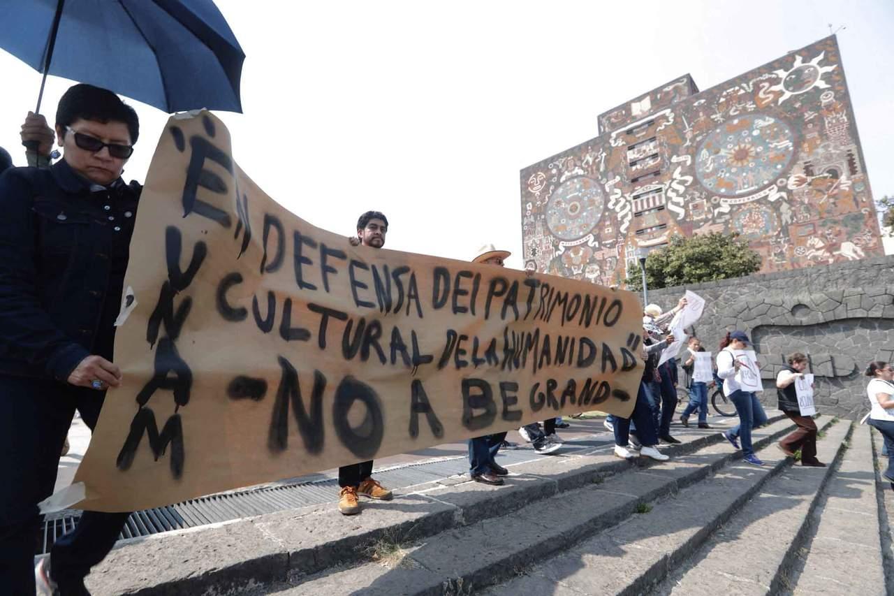 Suspenden indefinidamente obra de departamentos frente a UNAM. Noticias en tiempo real