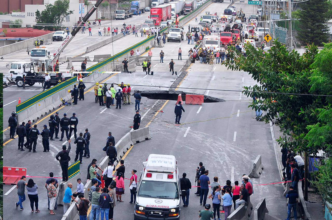 SFP continúa indagatoria por socavón en Paso Express de Cuernavaca. Noticias en tiempo real