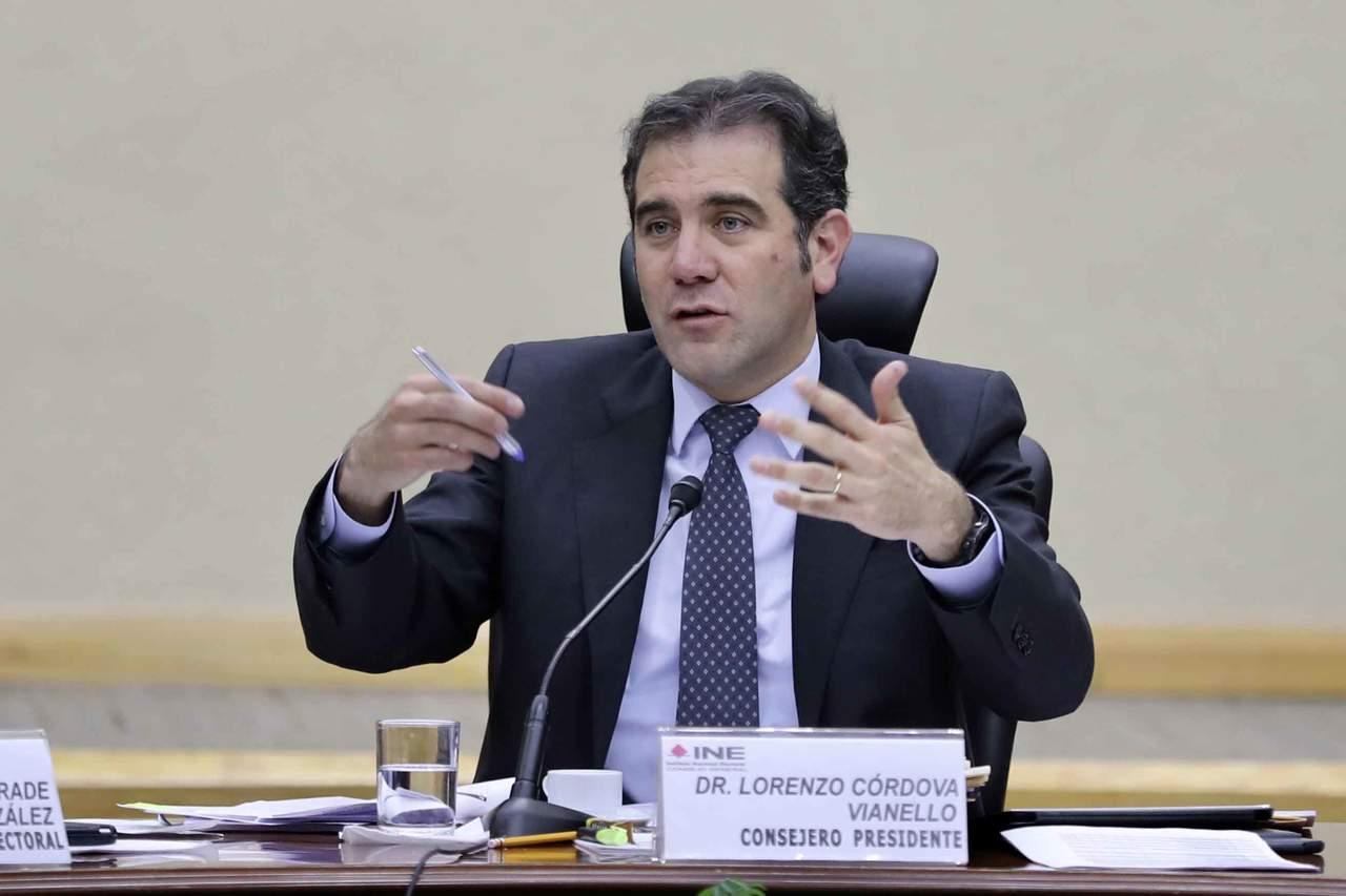 Pide Lorenzo Córdova aceptar resultados de la elección. Noticias en tiempo real