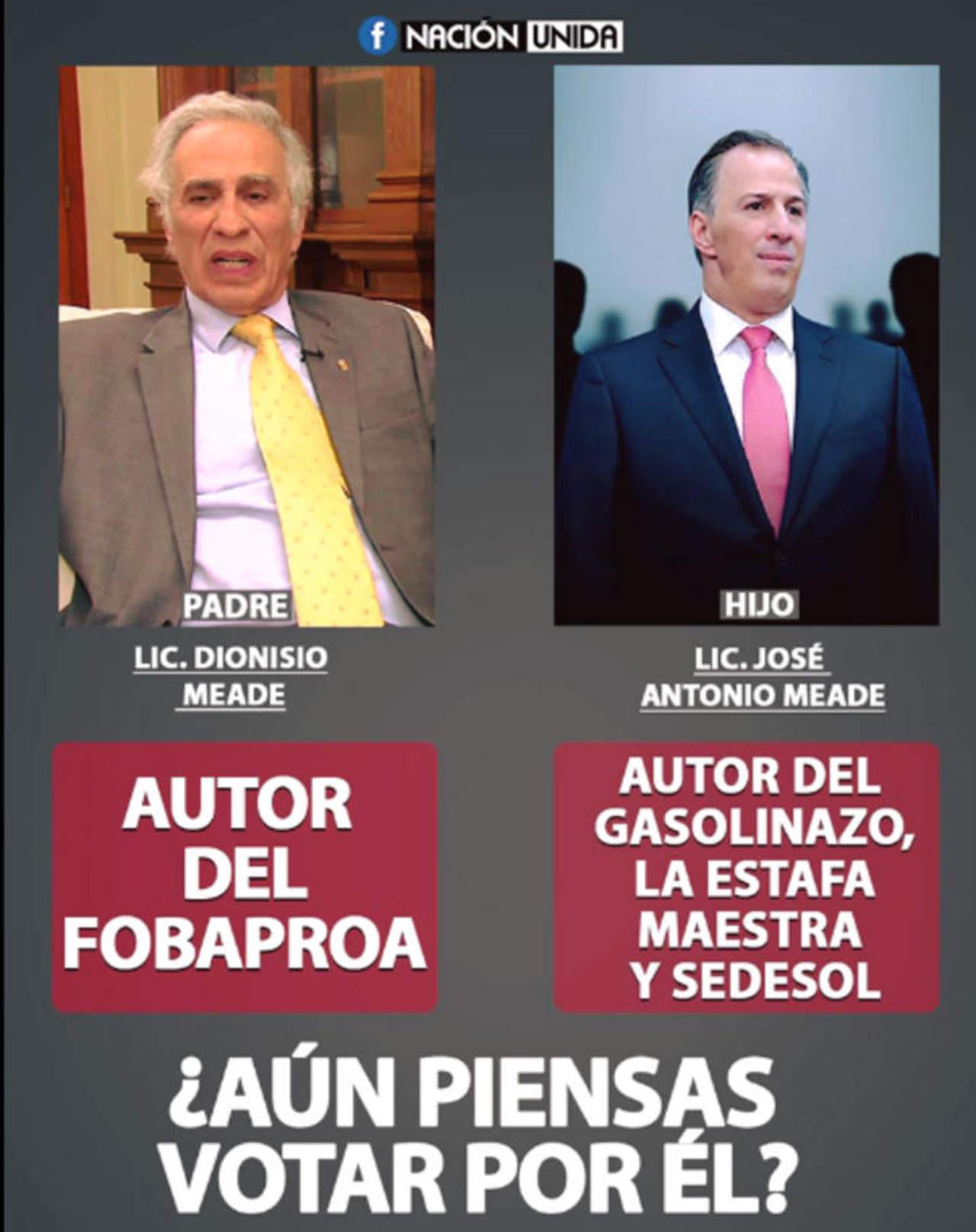 Padre de José Antonio Meade no es el autor del Fobaproa. Noticias en tiempo real