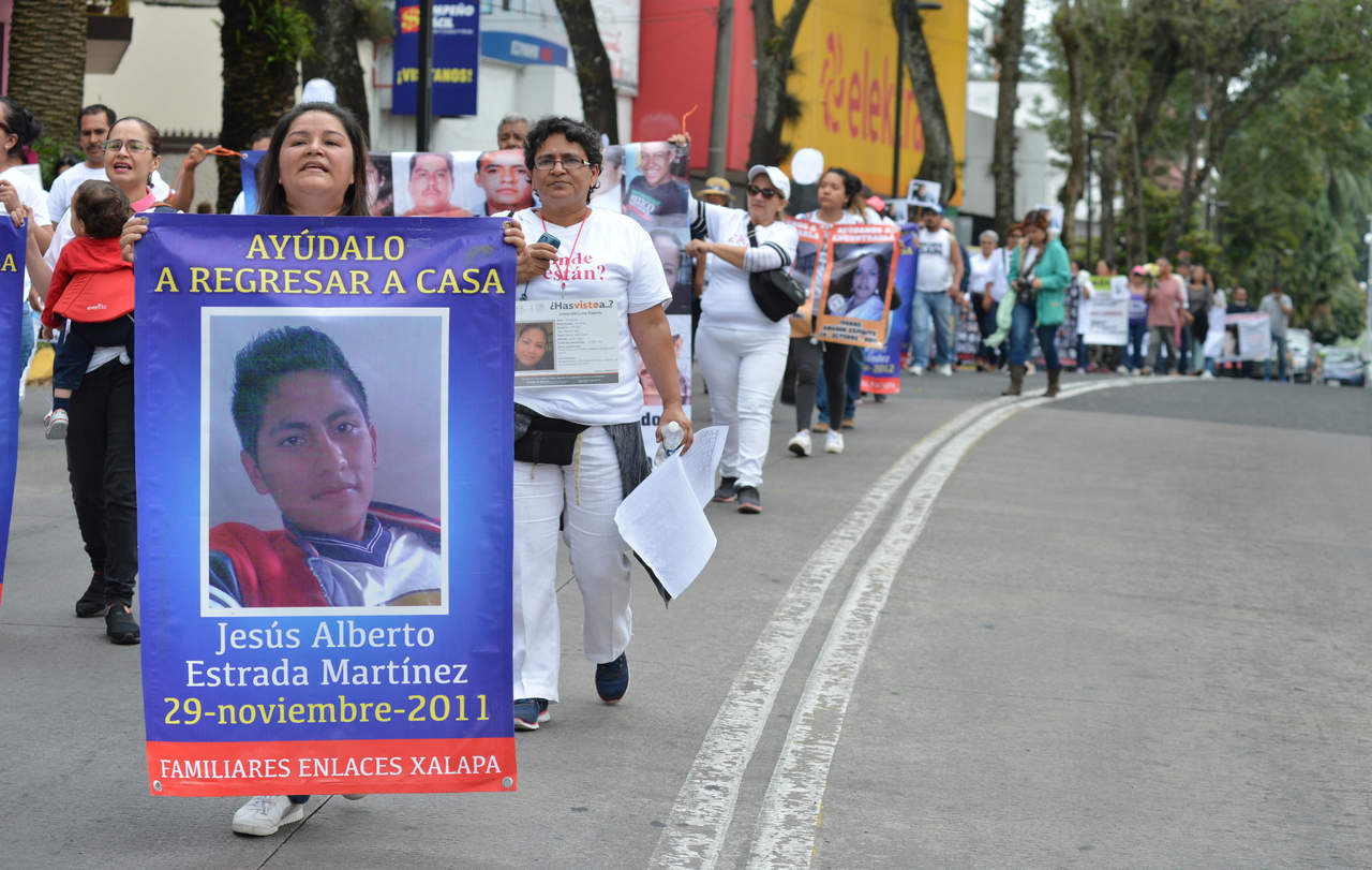 Familiares de desaparecidos marchan en siete estados. Noticias en tiempo real