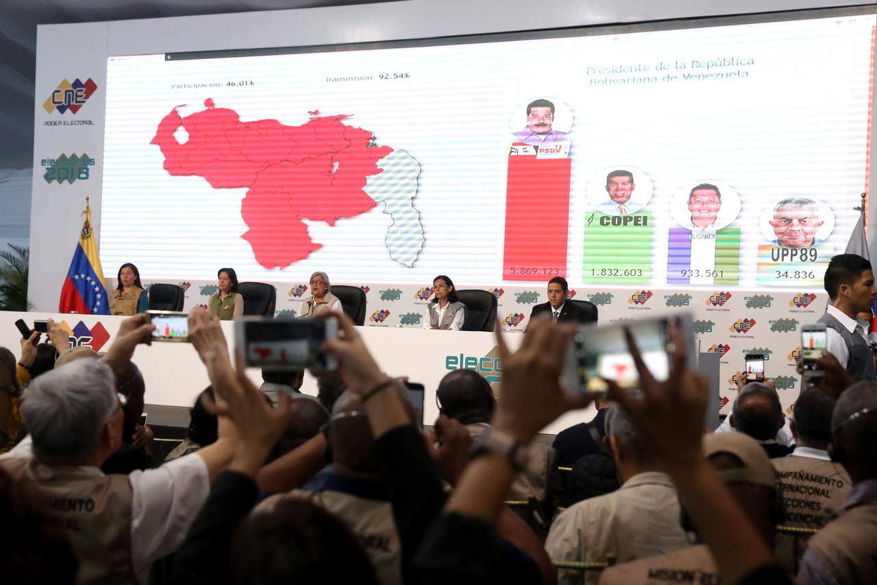 Obtiene Maduro 6.1 millones de votos; abstención fue del 53.98%. Noticias en tiempo real