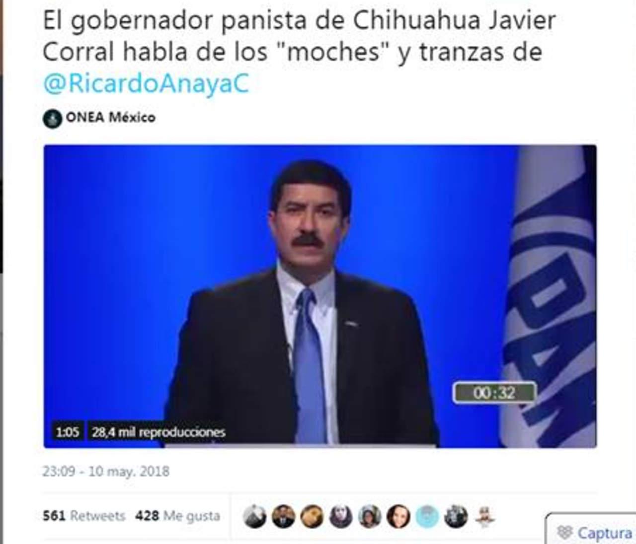 Javier Corral sí criticó a Ricardo Anaya... pero hace tres años. Noticias en tiempo real