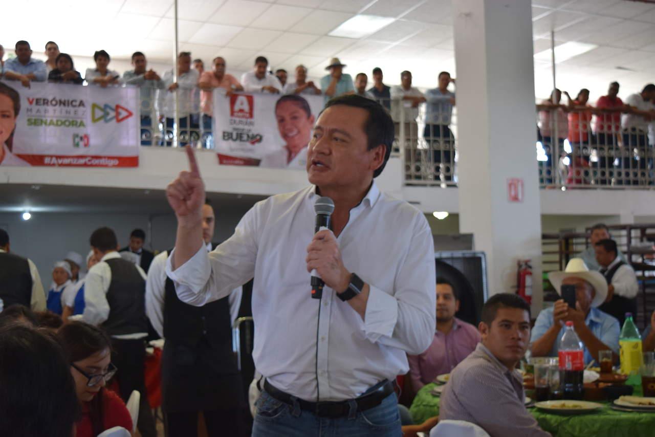 Apoye la designación de Meade por amor al partido: Osorio Chong. Noticias en tiempo real