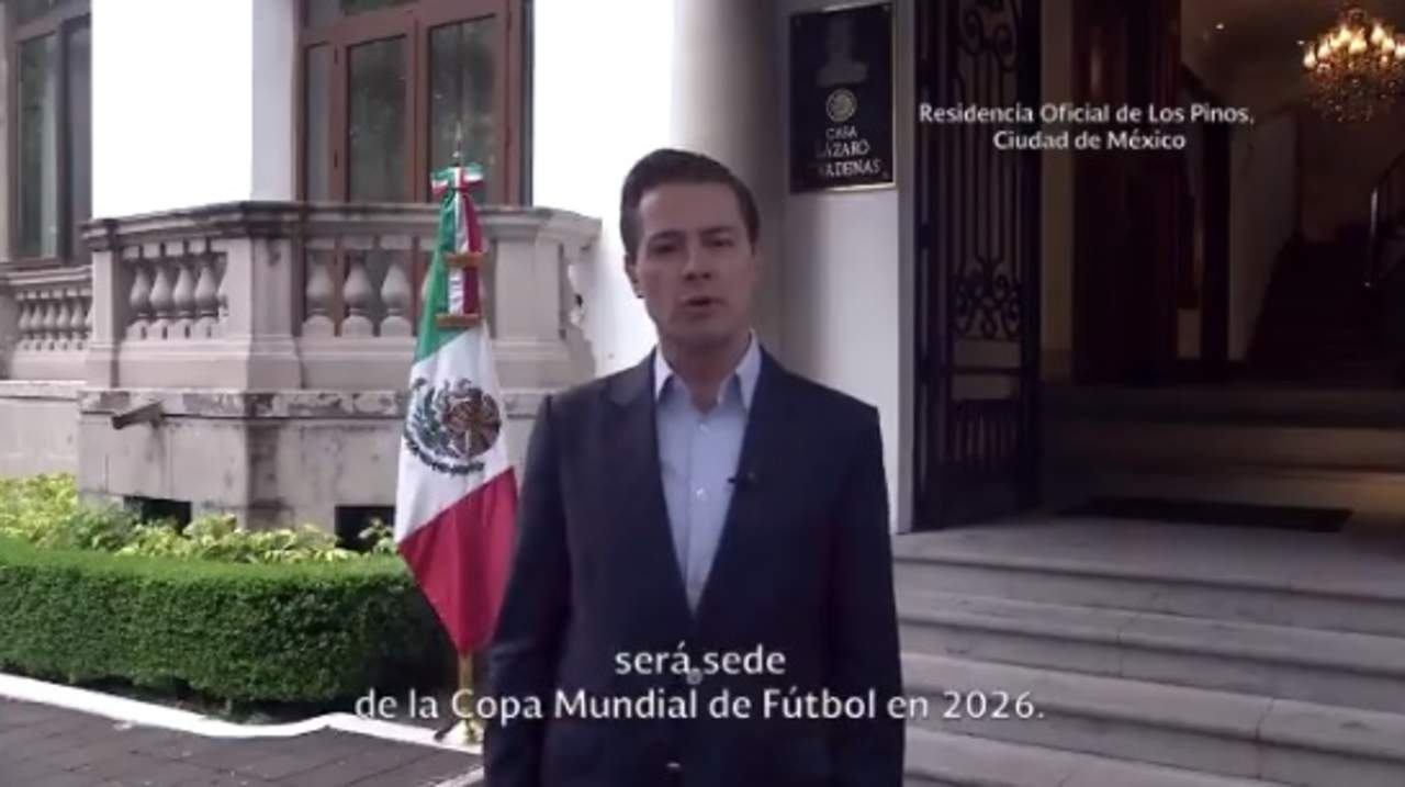 Celebra Peña Nieto sede mundialista. Noticias en tiempo real
