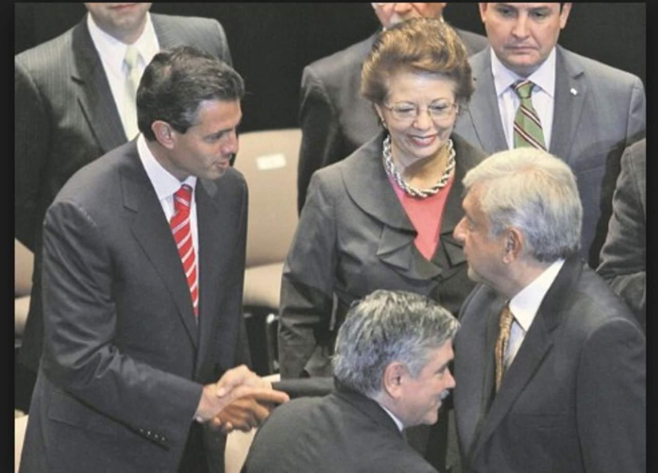 La fotografía que mostró Anaya sobre López Obrador y Peña Nieto es de 2012. Noticias en tiempo real
