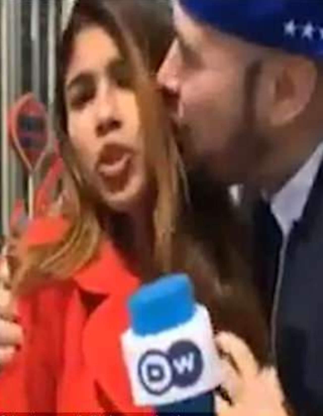 Reportera acosada sexualmente en directo