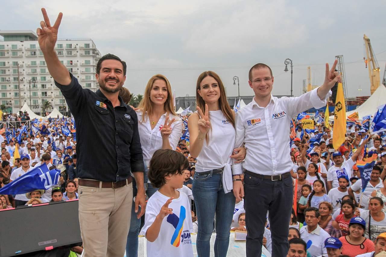 Cierra Anaya campaña en Veracruz; agradece esfuerzos del Frente. Noticias en tiempo real