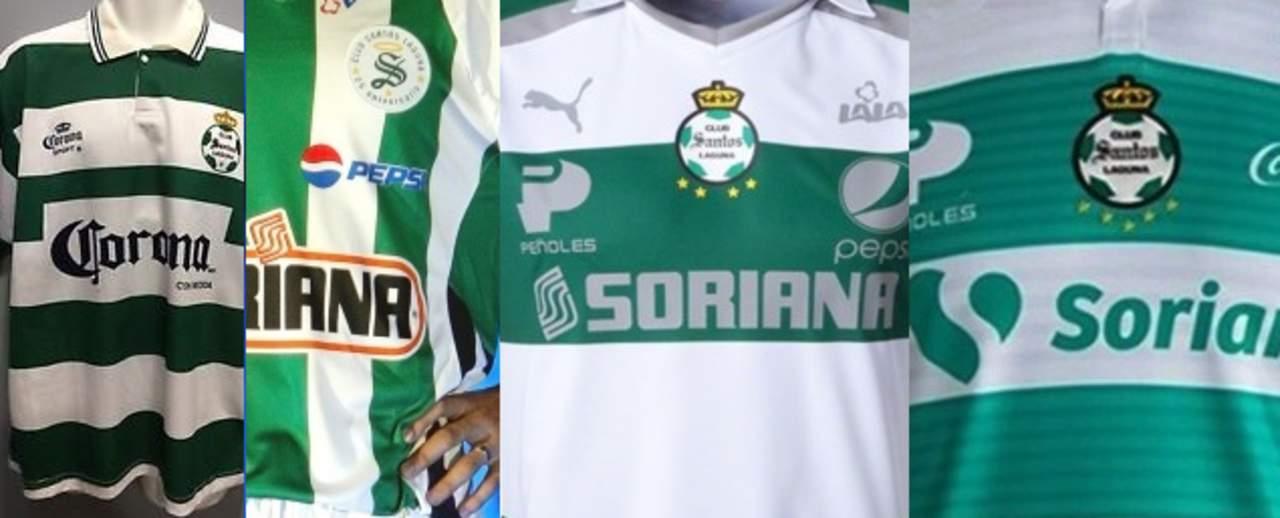 Estas son las 6 playeras de los campeonatos de Santos Laguna. Noticias en tiempo real