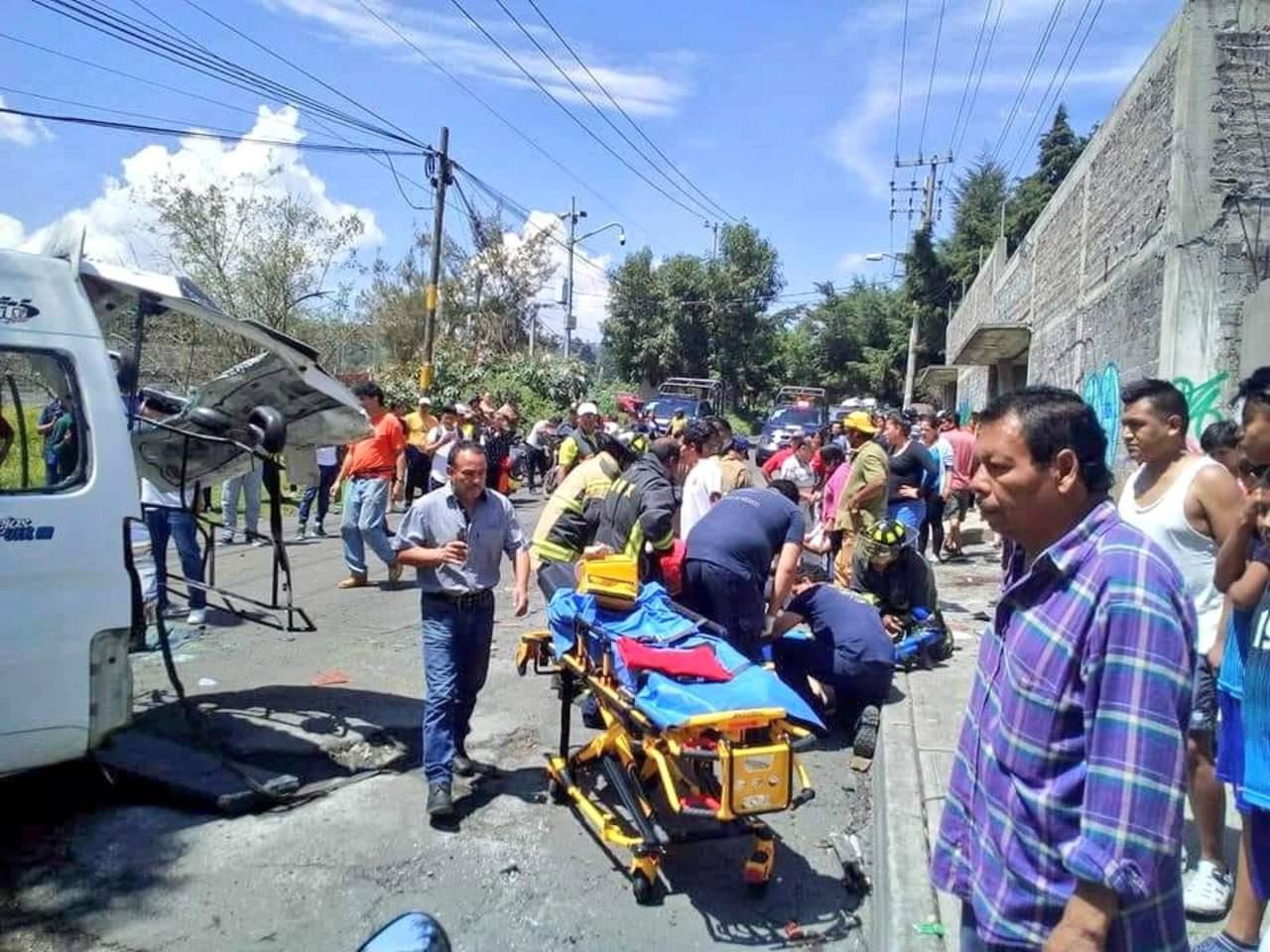 Choque en la carretera Xochimilco-Topilejo deja 15 heridos. Noticias en tiempo real