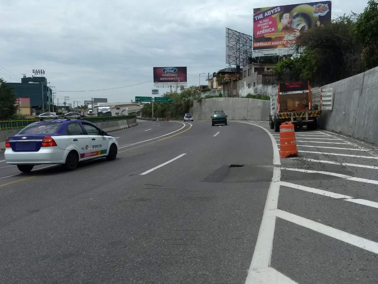 Registran nuevo socavón en Paso Express de Cuernavaca. Noticias en tiempo real