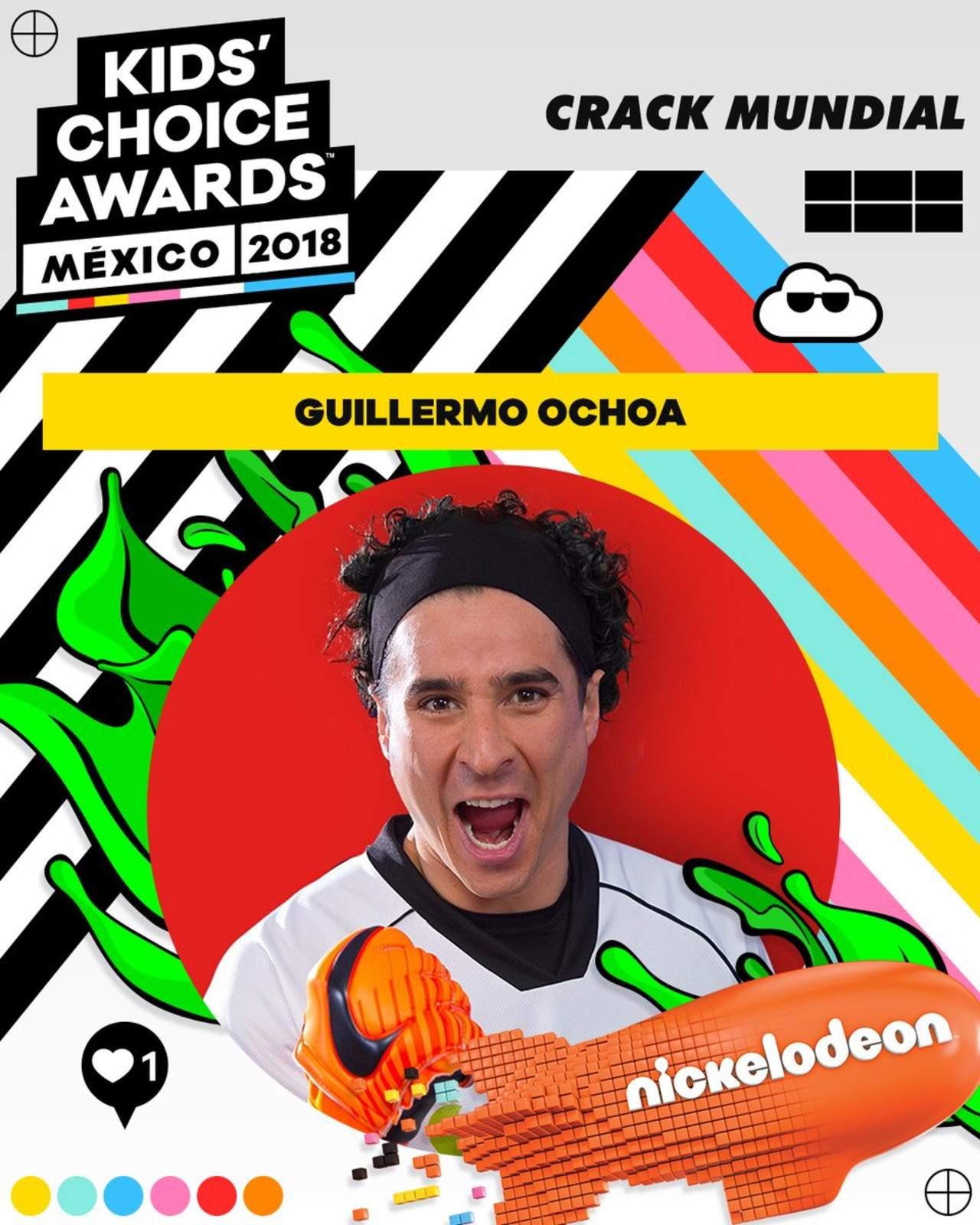 Nombran a Ochoa el crack del año en los Kids Choice Awards. Noticias en tiempo real