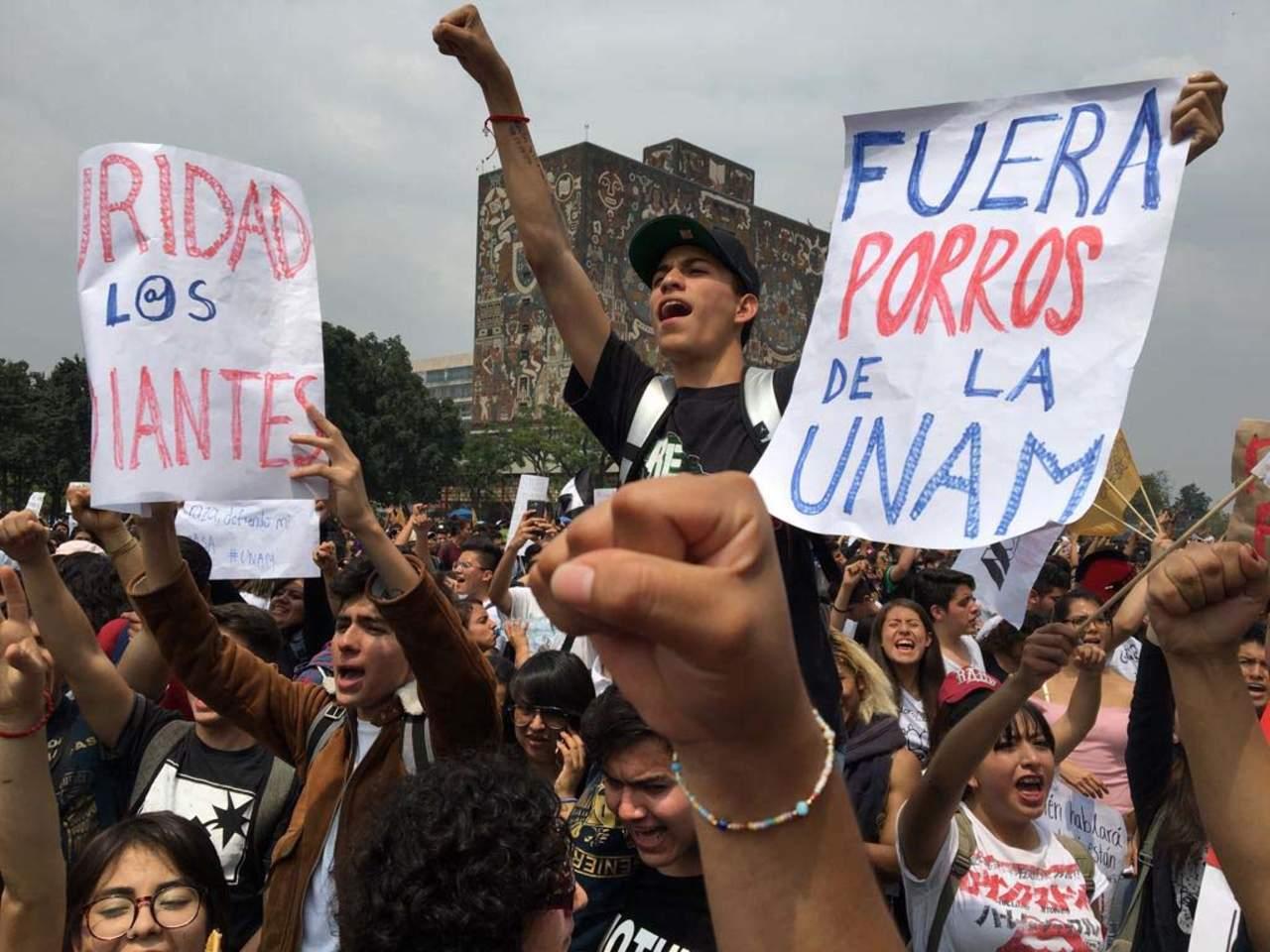 las protestas en la UNAM