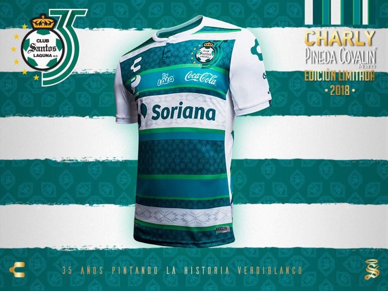buy online f7768 21a4d Santos presenta jersey por 35 aniversario, El Siglo de Torreón