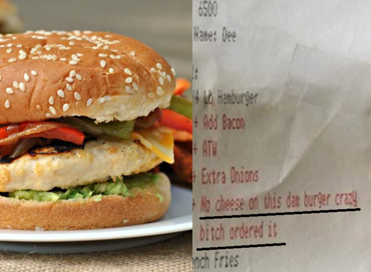 Pidió una hamburguesa sin queso y así le respondieron. Noticias en tiempo real