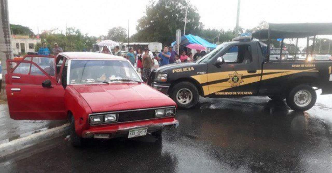 Policía en estado de ebriedad choca en Yucatán. Noticias en tiempo real
