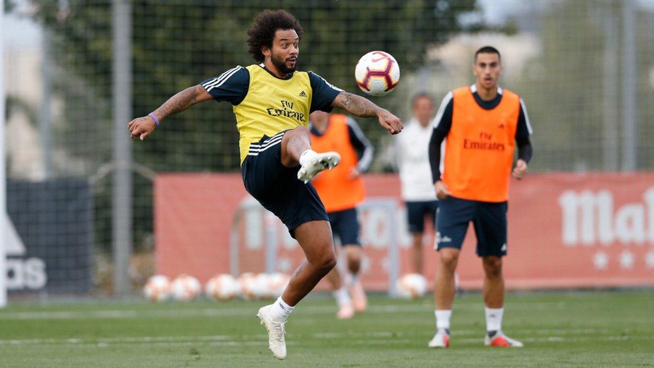 Marcelo entrena al parejo con el Madrid. Noticias en tiempo real