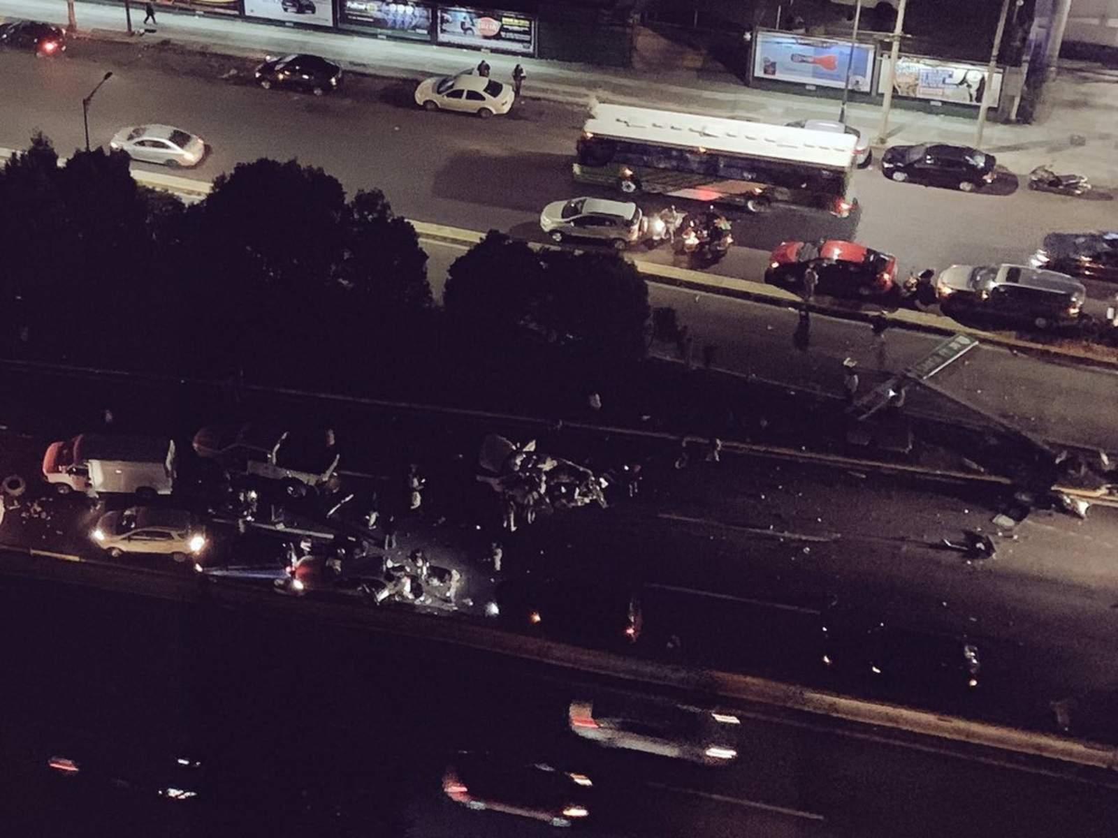 Van 9 muertos tras choque múltiple en la México-Toluca. Noticias en tiempo real