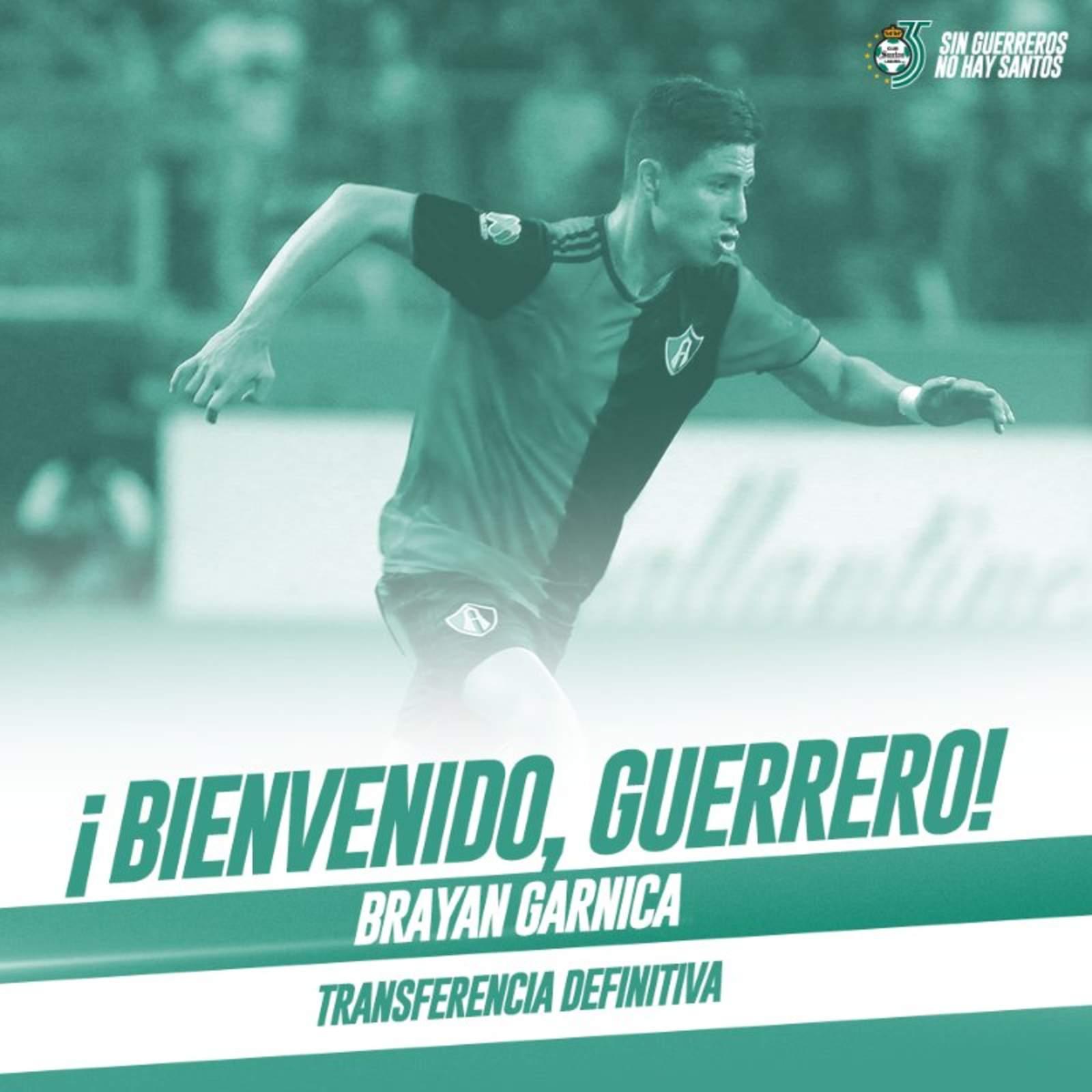 Brayan Garnica, nuevo refuerzo de los Guerreros