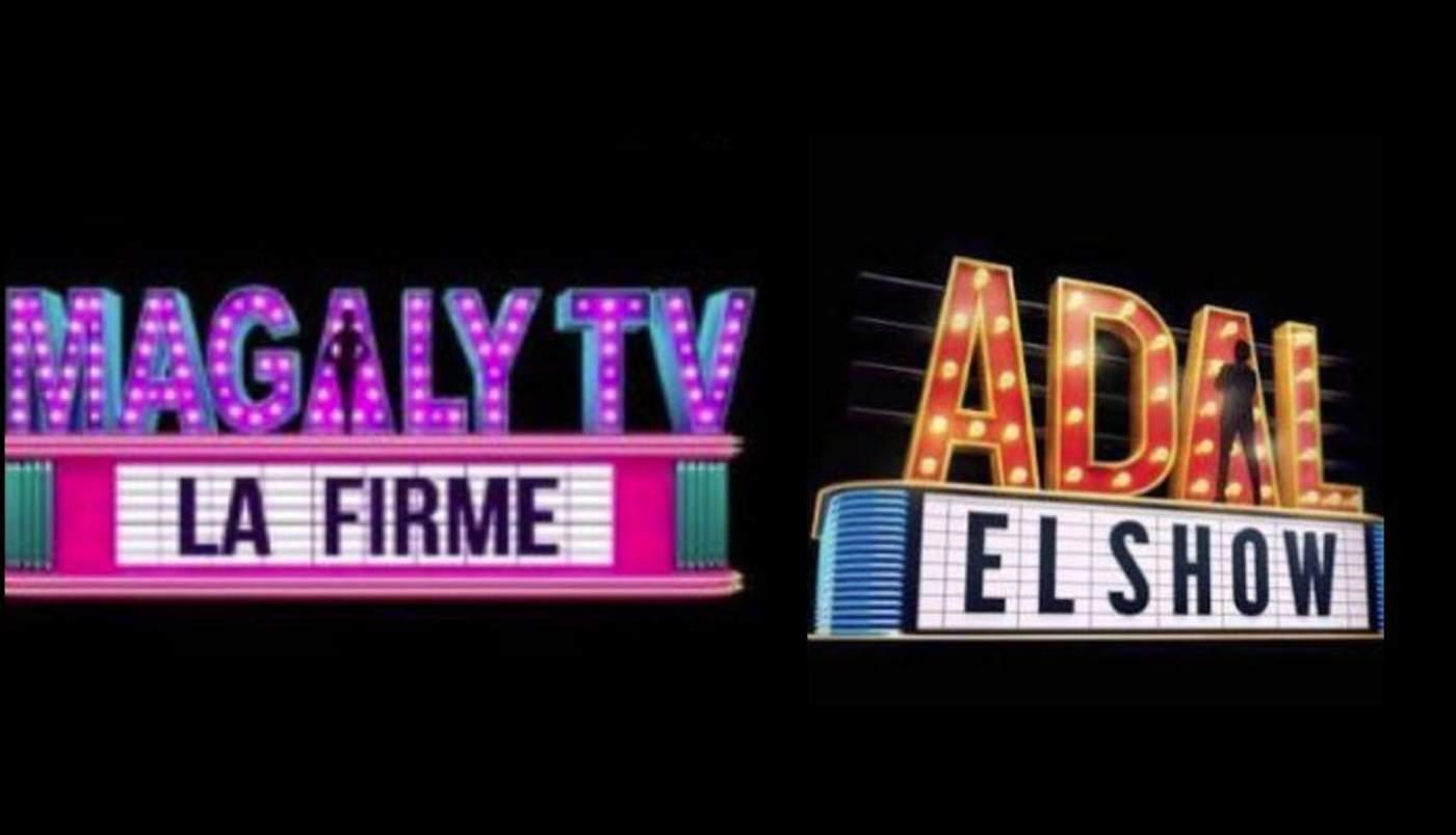 Logotipos de los programas Magaly TV, la firme y Adal el show. (