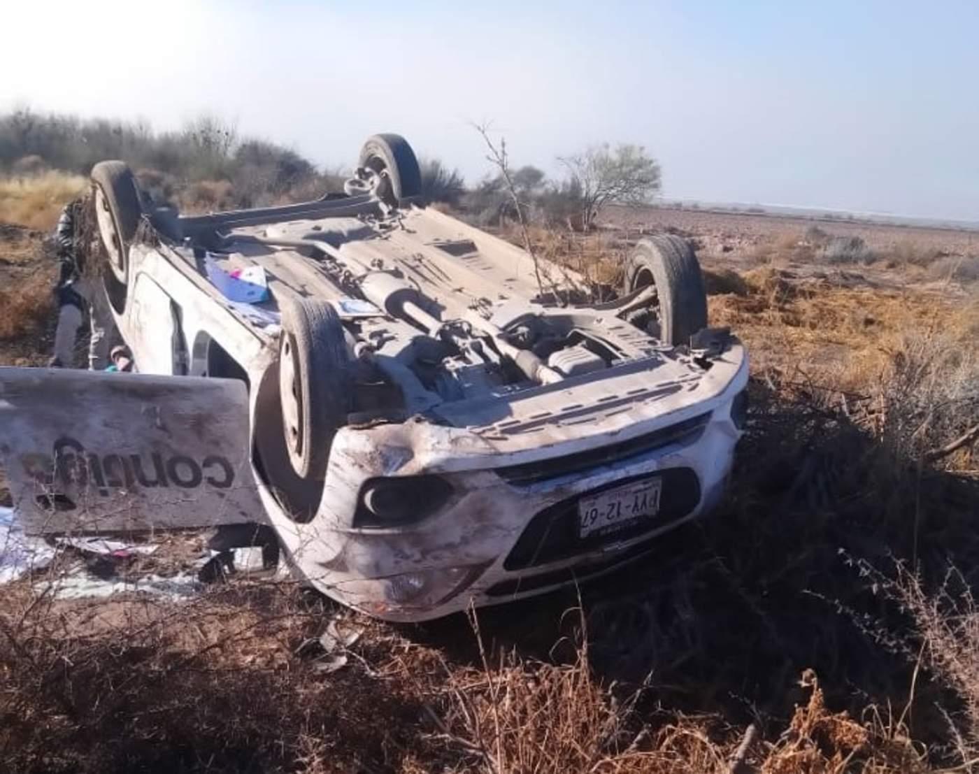 Volcadura deja tres personas lesionadas en Matamoros. Noticias en tiempo real