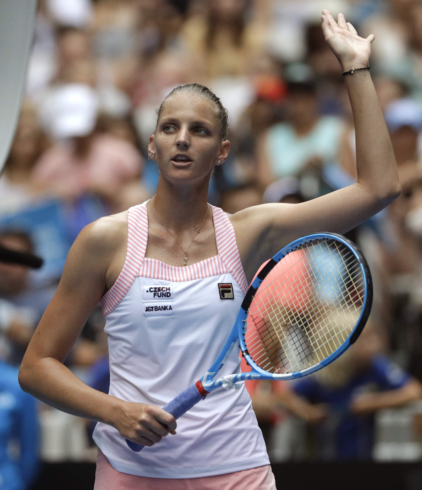 Karolina Pliskova se impuso 4-6, 6-1, 6-0 a Madison Brengle. (AP)