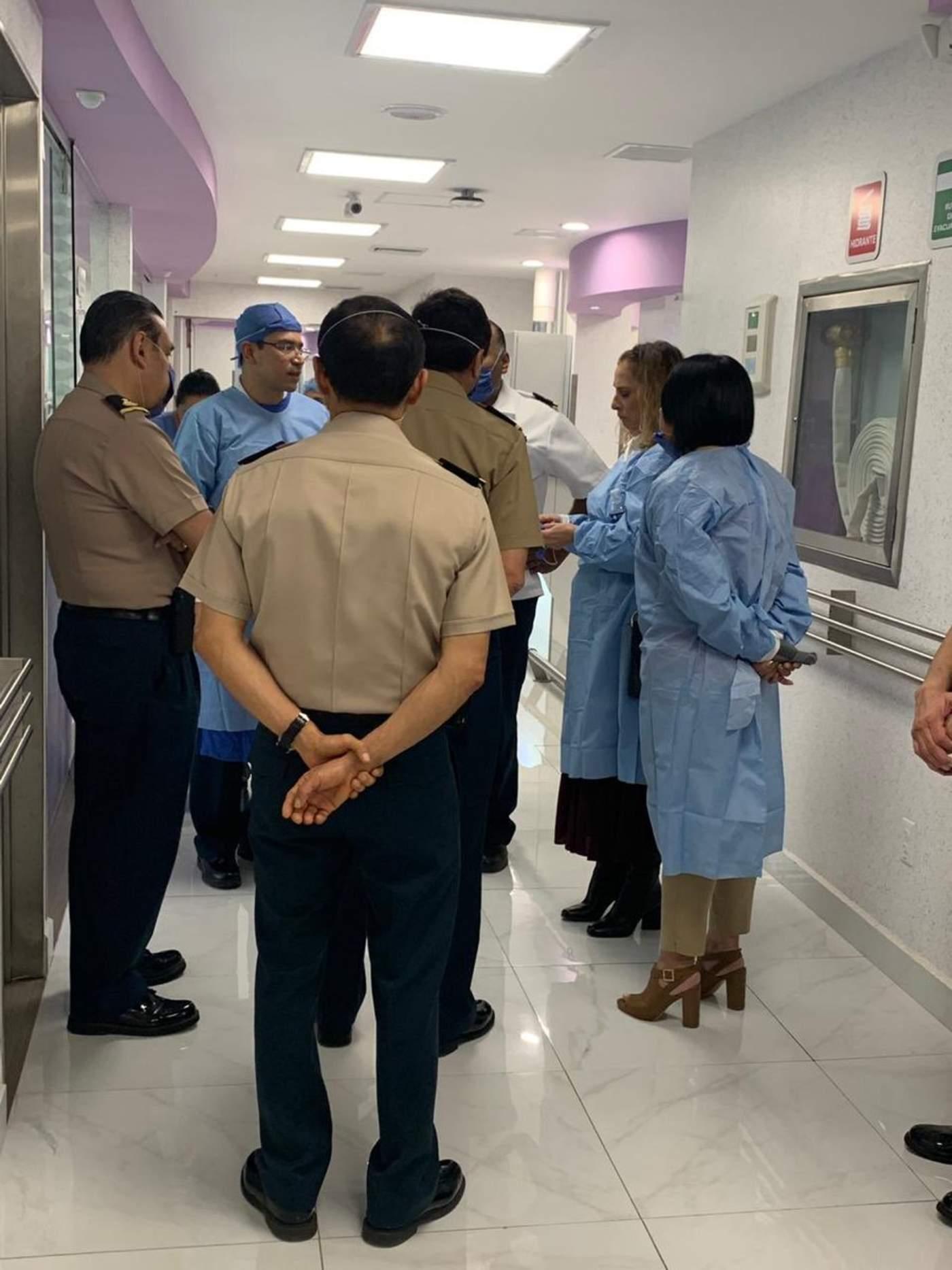 Recorre Beatriz Gutiérrez hospitales que atienden a heridos por explosión. Noticias en tiempo real