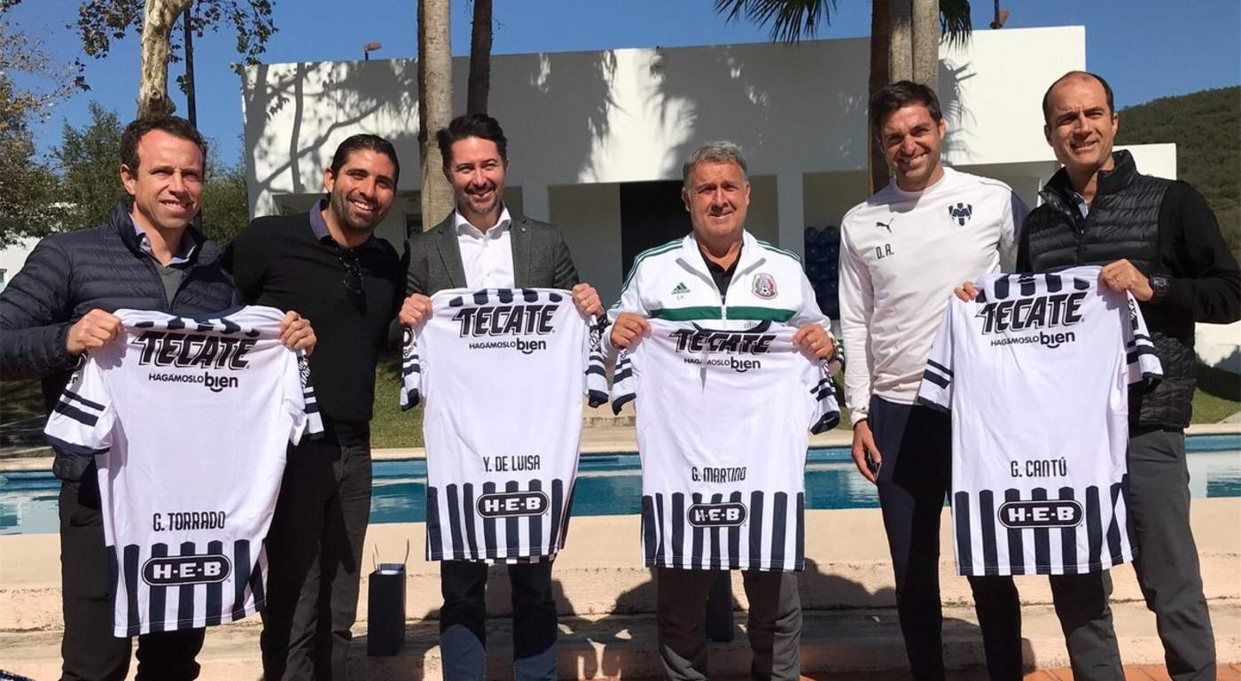 Martino visita el entrenamiento de Rayados. Noticias en tiempo real