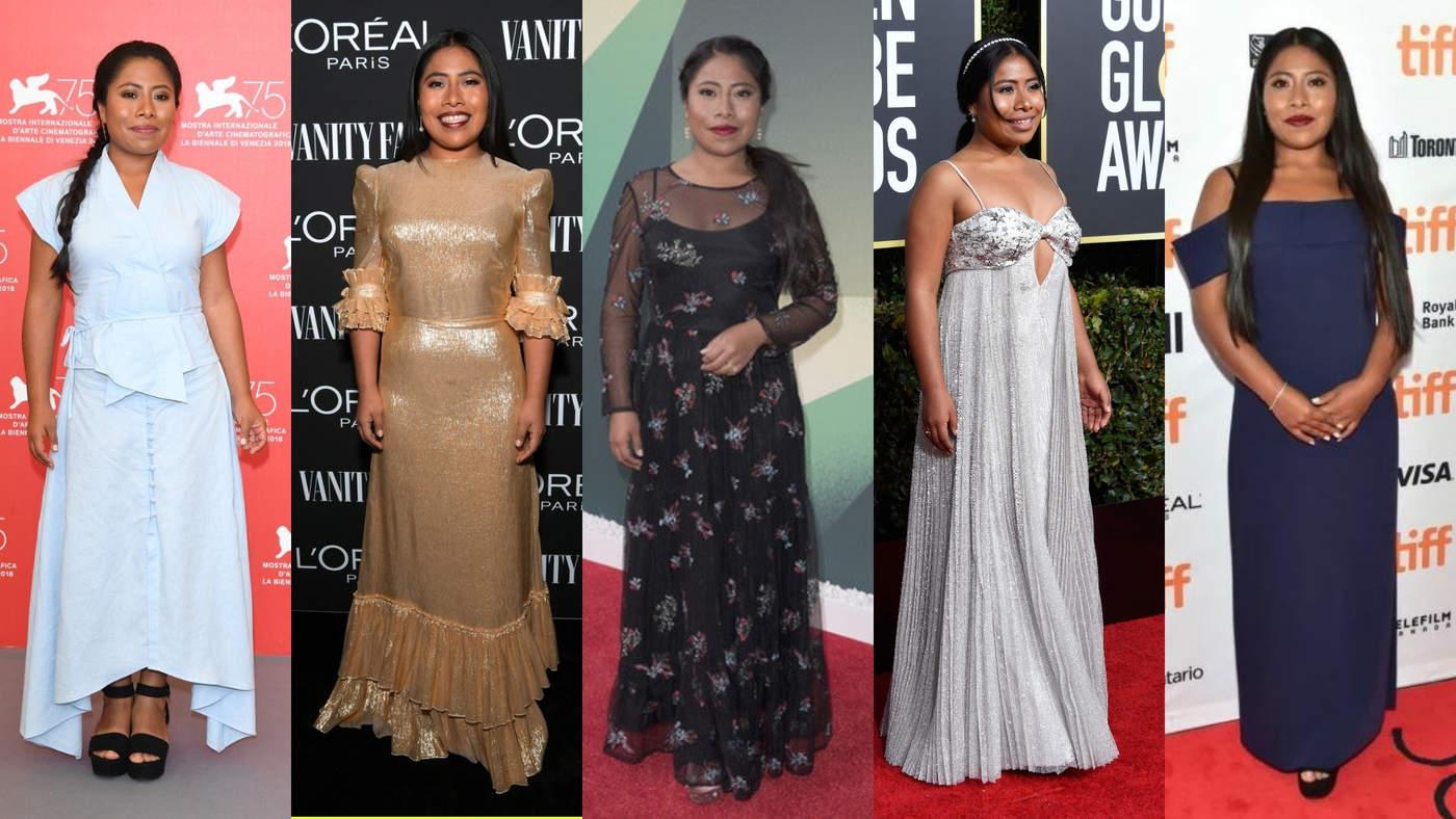 La actriz mexicana no sólo ha impactado en el mundo del cine, poco a poco ha ido imponiendo su propio estilo en las alfombras rojas y acaparado las portadas de revistas. (ESPECIAL)