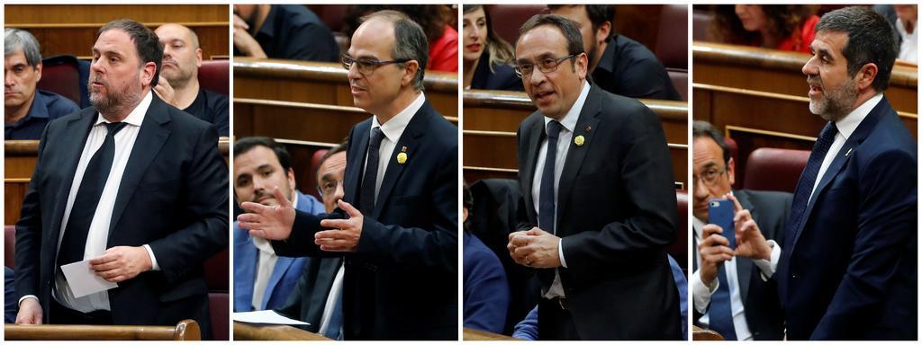 Congreso español suspende a los cuatro diputados independentistas presos. Noticias en tiempo real