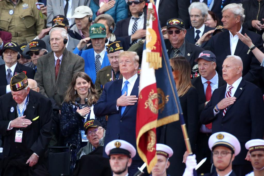Trump destaca en Normandía el vínculo irrompible con los aliados. Noticias en tiempo real